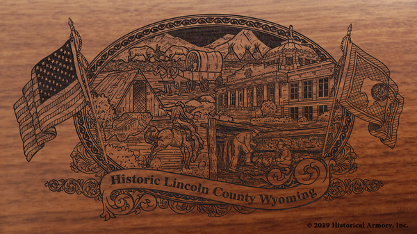 Lincoln County Wyoming Engraved Rifle