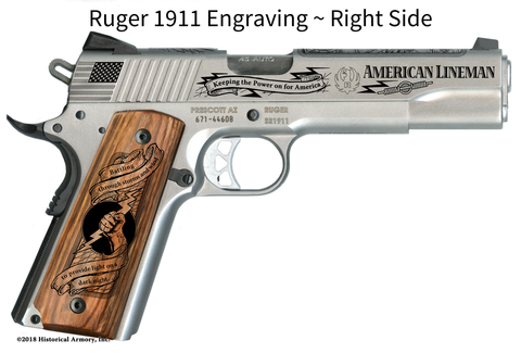 American Lineman Engraved 1911