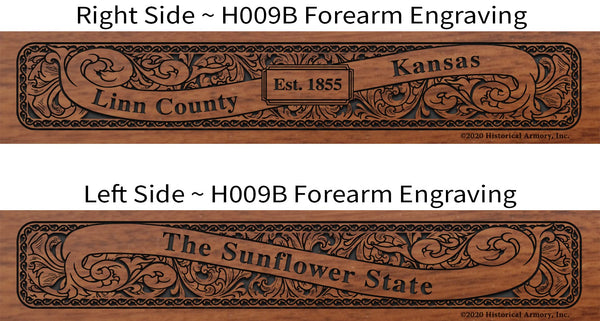 Linn County Kansas Engraved Rifle Forearm H009B