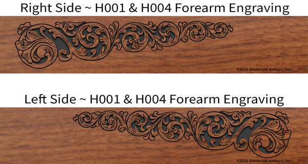 Linn County Kansas Engraved Rifle Forearm H001-H004