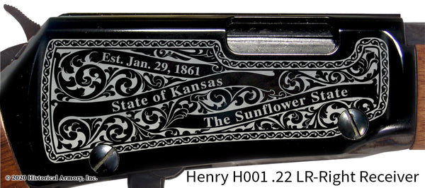Linn County Kansas Engraved Henry H001 Rifle