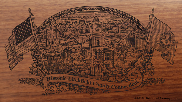 Litchfield County Connecticut Engraved Rifle