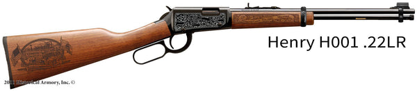 Livingston County Missouri Engraved Rifle