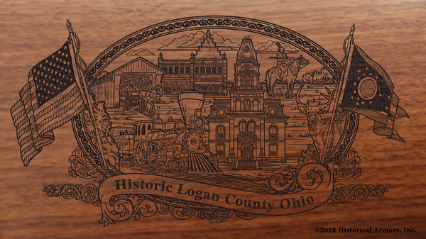 Logan County Ohio Engraved Rifle