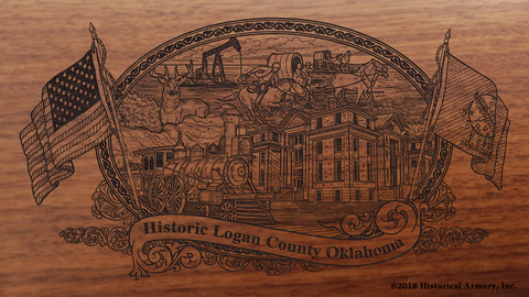 Logan County Oklahoma Engraved Rifle