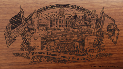 Logan County West Virginia Engraved Rifle