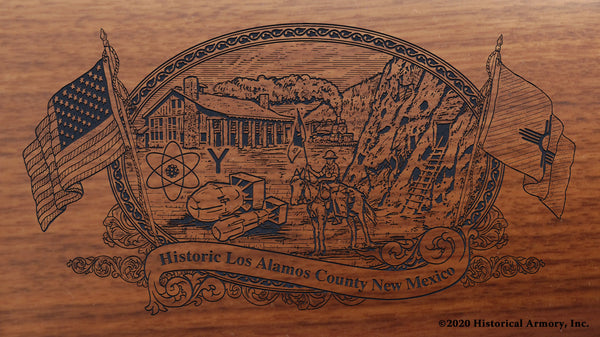 Los Alamos County New Mexico Engraved Rifle Buttstock