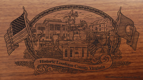 Loudoun County Virginia Engraved Rifle