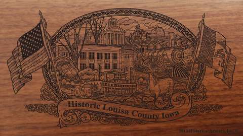 Louisa County Iowa Engraved Rifle