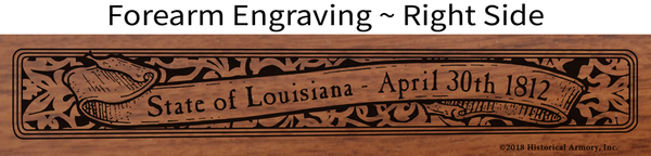 Louisiana State Pride Engraved Rifle