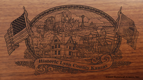 Lyon County Kansas Engraved Rifle