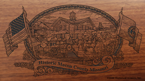 Macon County Missouri Engraved Rifle