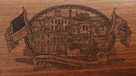 Madison County Nebraska Engraved Rifle