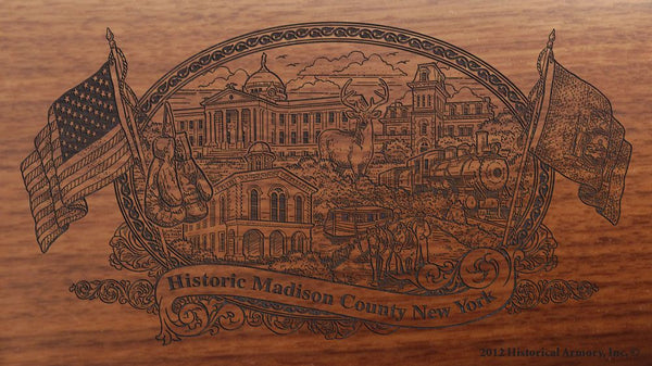 madison county new york engraved rifle buttstock