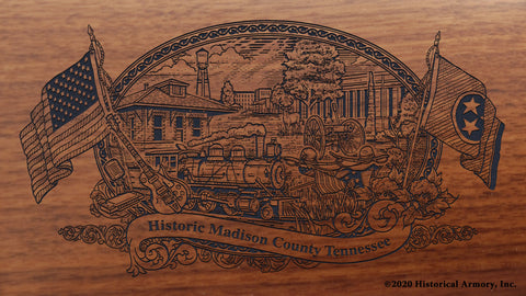 Madison County Tennessee Engraved Rifle Buttstock