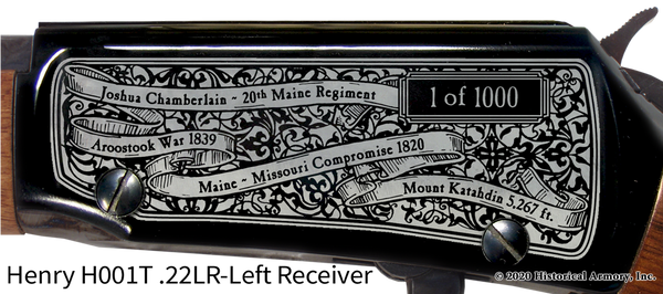 Maine State Pride Engraved Rifle