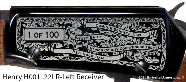 Marion County Iowa Engraved Rifle