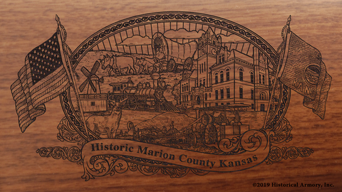 Marion County Kansas Engraved Rifle