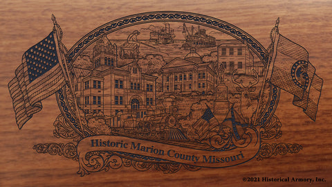 Marion County Missouri Engraved Rifle Buttstock