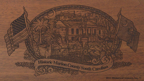 marion county south carolina engraved rifle buttstock