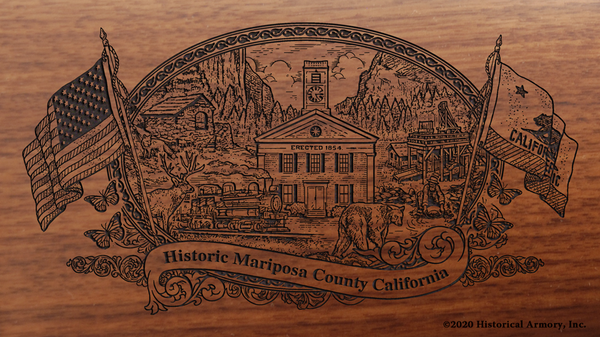Mariposa County California Engraved Rifle