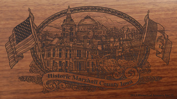 Marshall County Iowa Engraved Rifle