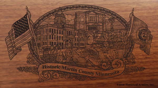 Martin County Minnesota Engraved Rifle