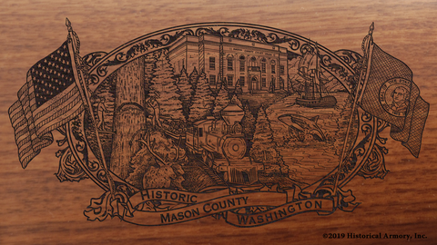 Mason County Washington Engraved Rifle