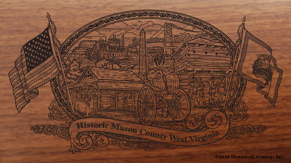 Mason County West Virginia Engraved Rifle