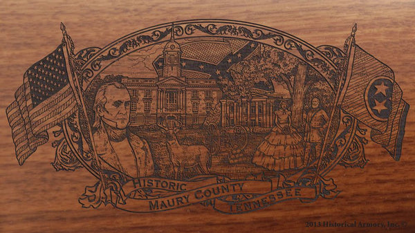 maury county tennessee engraved rifle buttstock