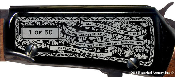 maury county tennessee engraved rifle h001 receiver