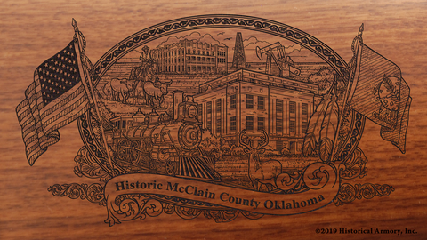 McClain County Oklahoma Engraved Rifle
