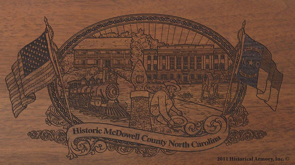 mcdowell county north carolina engraved rifle buttstock