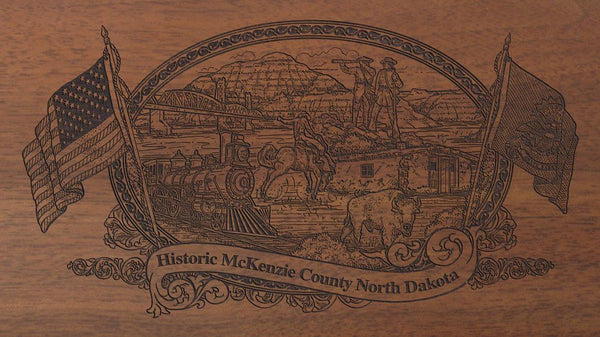 mckenzie county north dakota engraved rifle buttstock