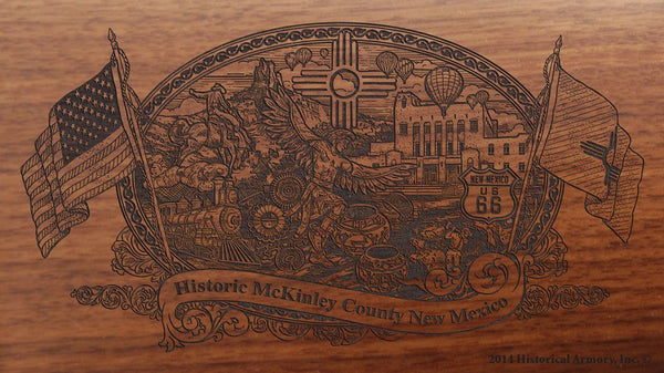 mckinley county new mexico engraved rifle buttstock