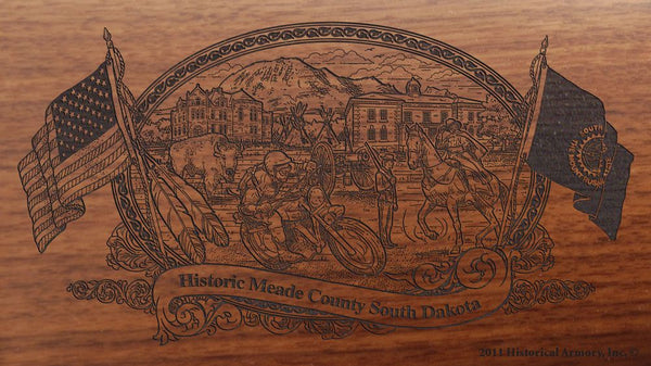 meade county south dakota engraved rifle buttstock