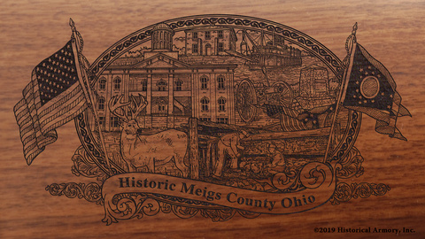 Meigs County Ohio Engraved Rifle