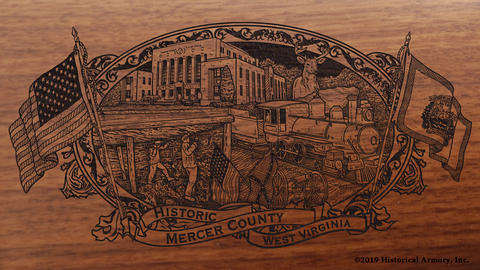 Mercer County West Virginia Engraved Rifle