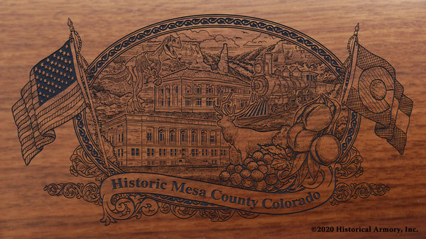 Mesa County Colorado Engraved Rifle Buttstock