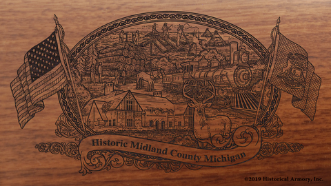 Midland County Michigan Engraved Rifle