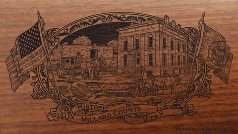 Millard County Utah Engraved Rifle
