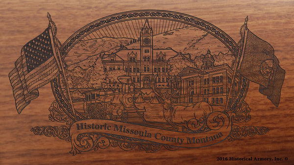 Missoula County Montana Engraved Rifle