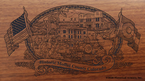 Moffat County Colorado Engraved Rifle Buttstock