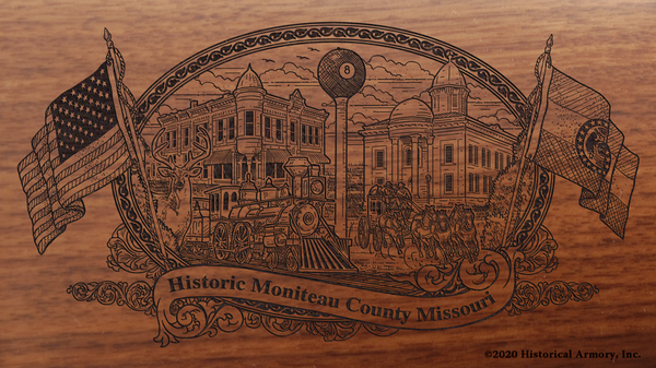 Moniteau County Missouri Engraved Rifle