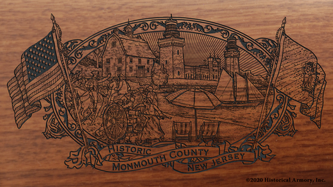 Monmouth County New Jersey Engraved Rifle