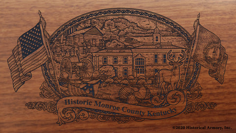 Monroe County Kentucky Engraved Rifle Buttstock