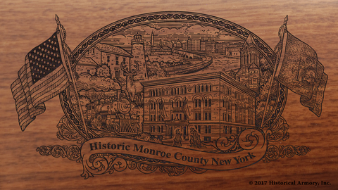 Monroe County New York Engraved Rifle