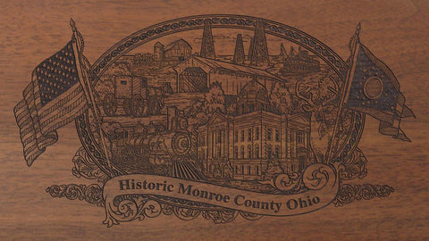 monroe county ohio engraved rifle buttstock