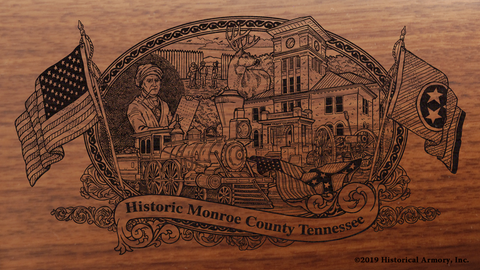 Monroe County Tennessee Engraved Rifle