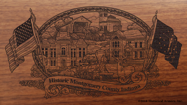 Montgomery County Indiana Engraved Rifle